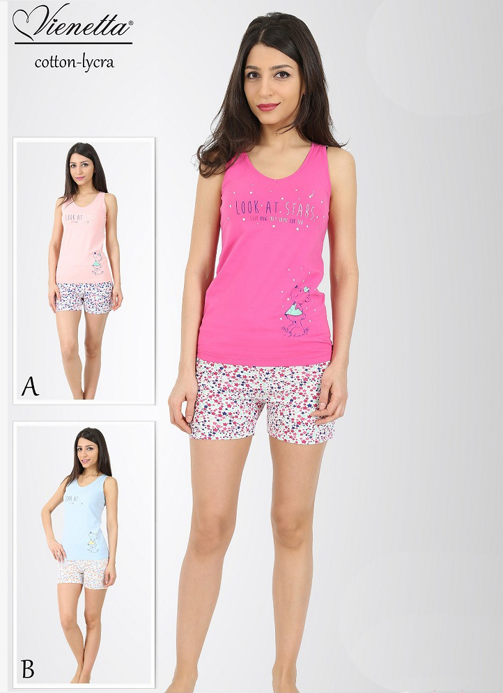 Пижама женская шорты 4080383162