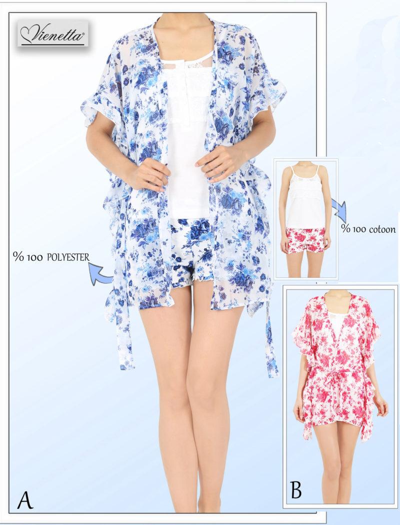 Пижама женская шорты 4081594938