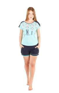 Пижама женская шорты Nicoletta 80574