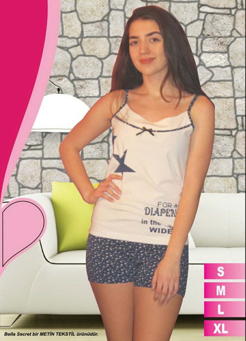 Пижама женская шорты Metin 8572