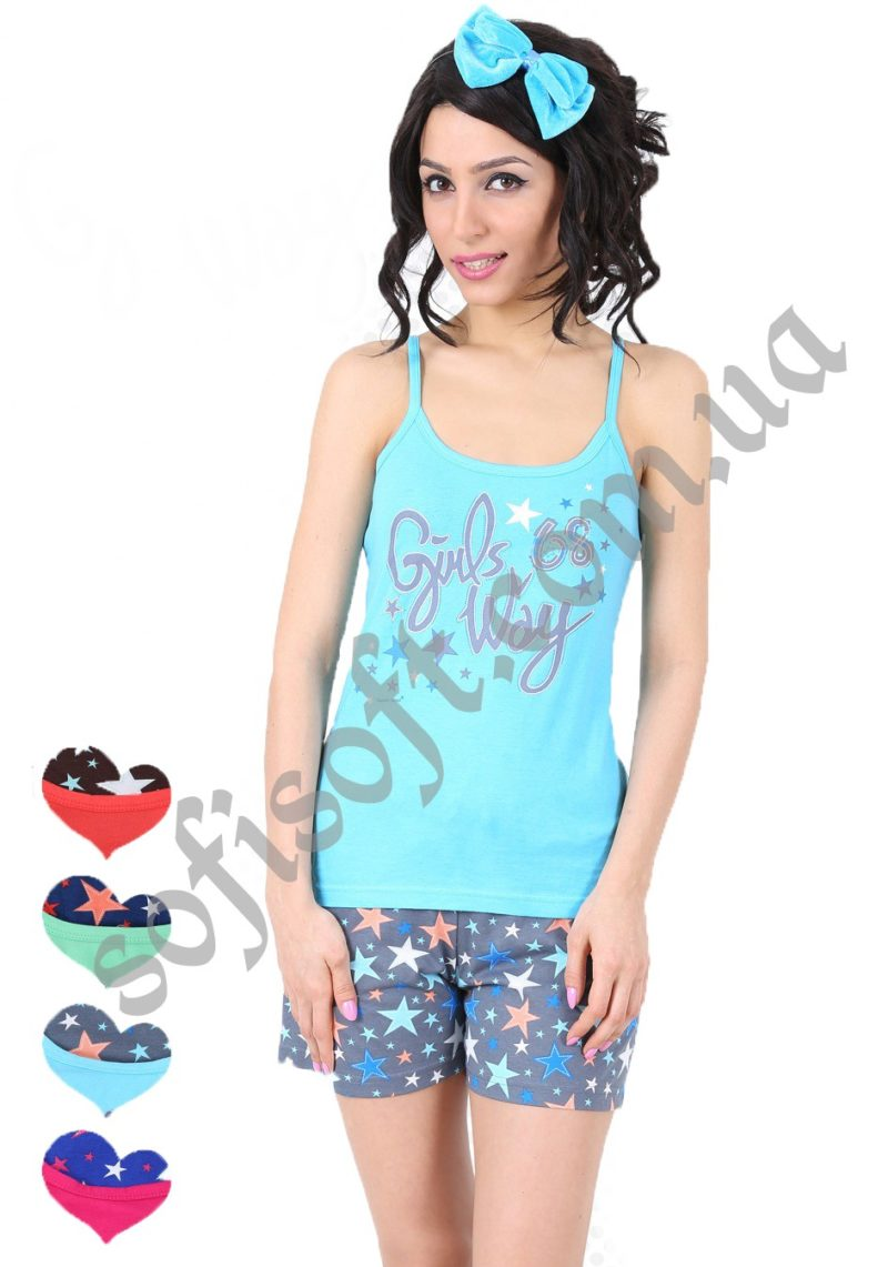 Пижама женская шорты 8680646019042