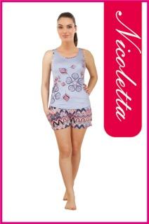 Пижама женская шорты Nicoletta 80590