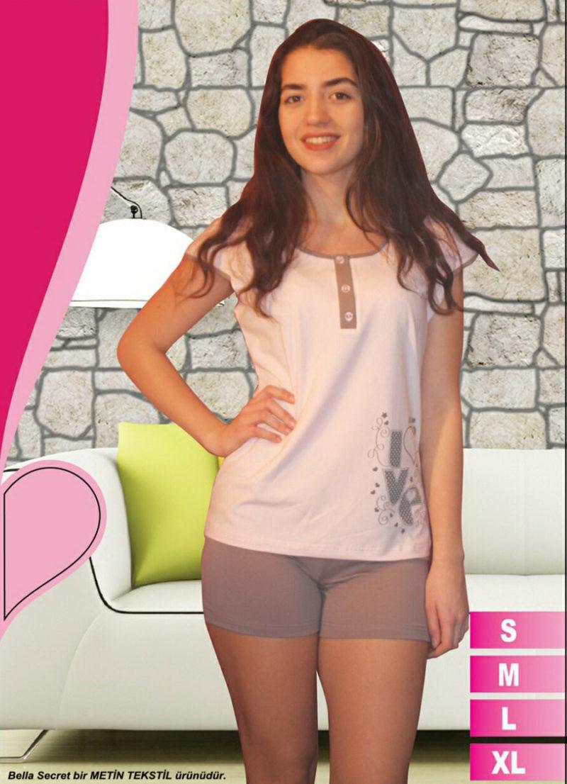 Пижама женская шорты Metin 8584