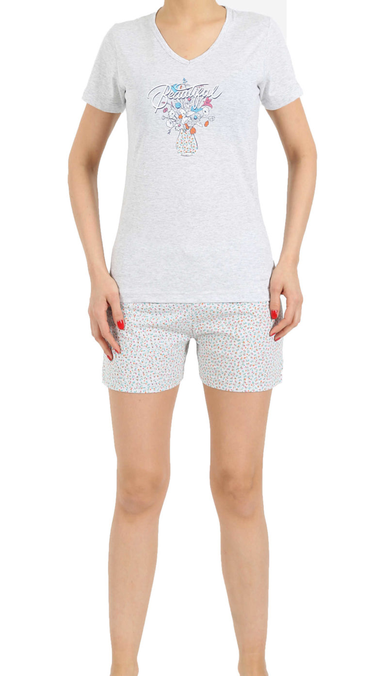 Пижама женская шорты 4122537018