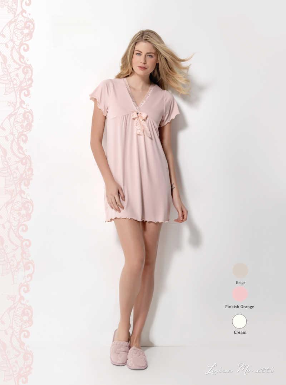 Ночная рубашка LMS-1100 pinkish orange S