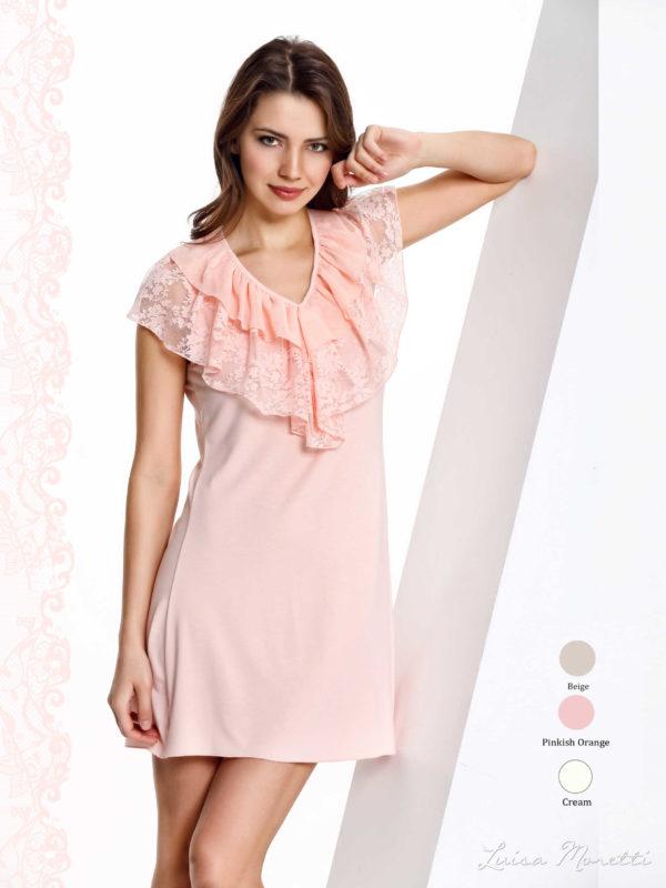 Ночная рубашка LMS-1129 pinkish orange S