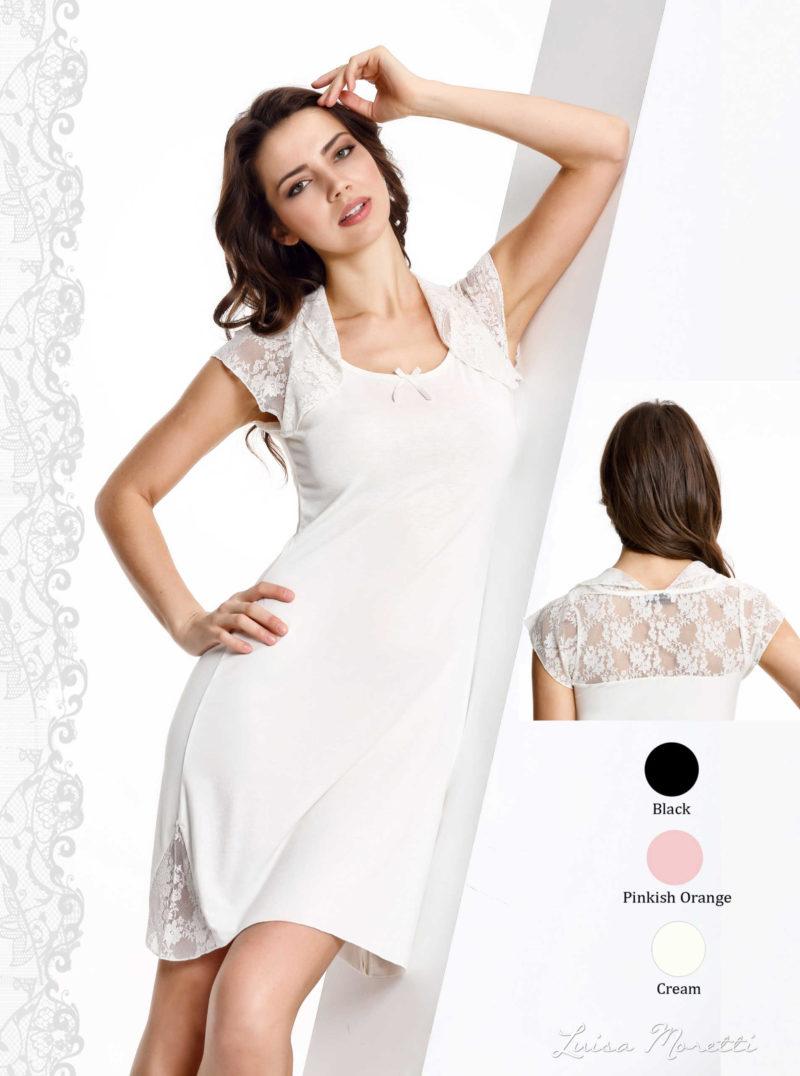 Ночная рубашка LMS-1148 cream S