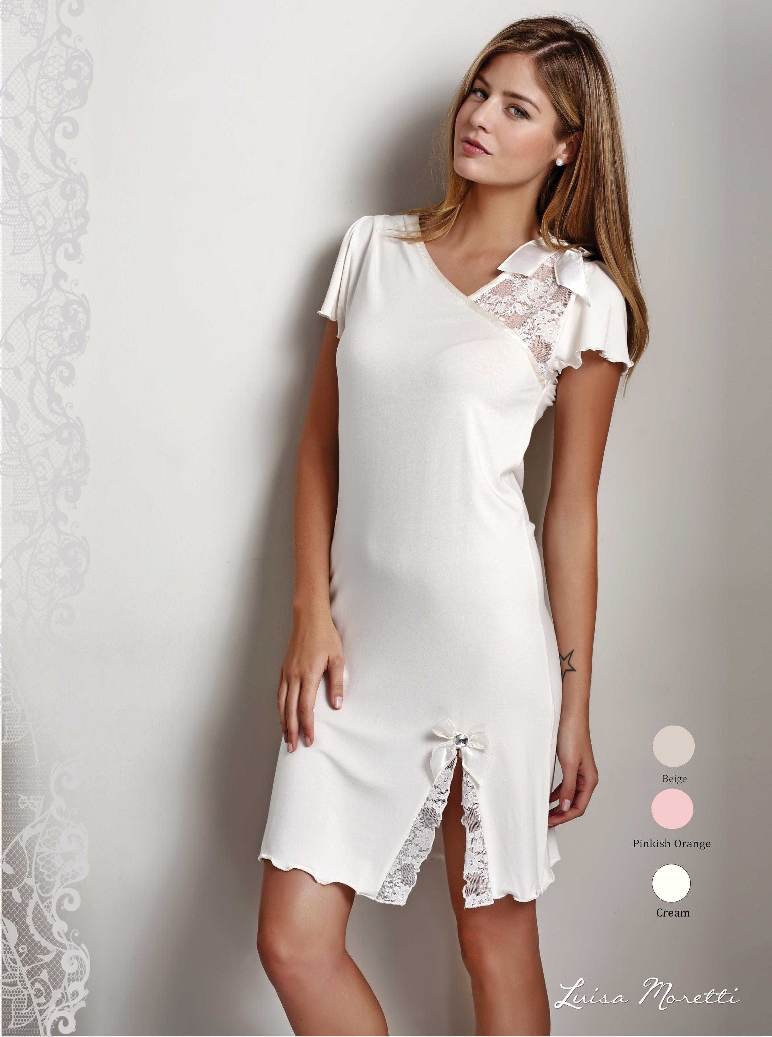 Ночная рубашка LMS-2013 cream S