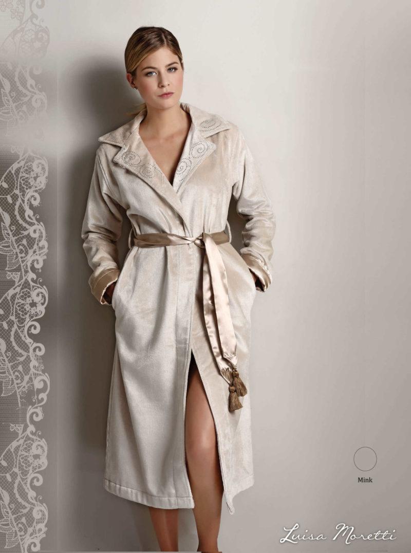 Женский махровый халат LMS-2064 mink S