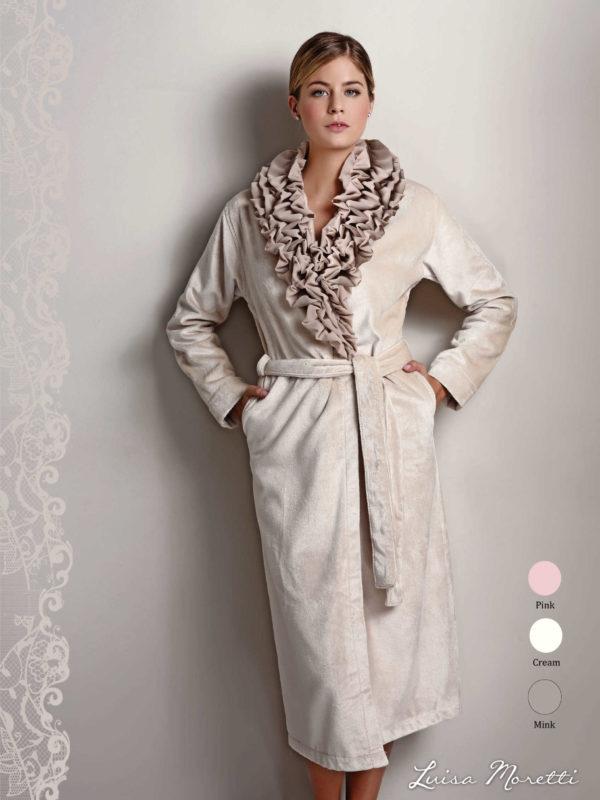 Женский махровый халат LMS-2066 mink S
