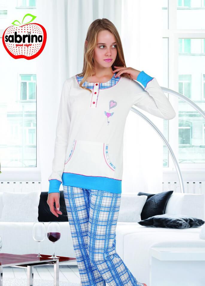 Пижама женская байка SAB.V45083 MAV