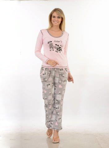 Пижама женская брюки Metin 5706