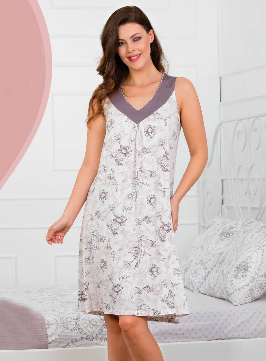 Ночная рубашка без рукава Caroline 82487