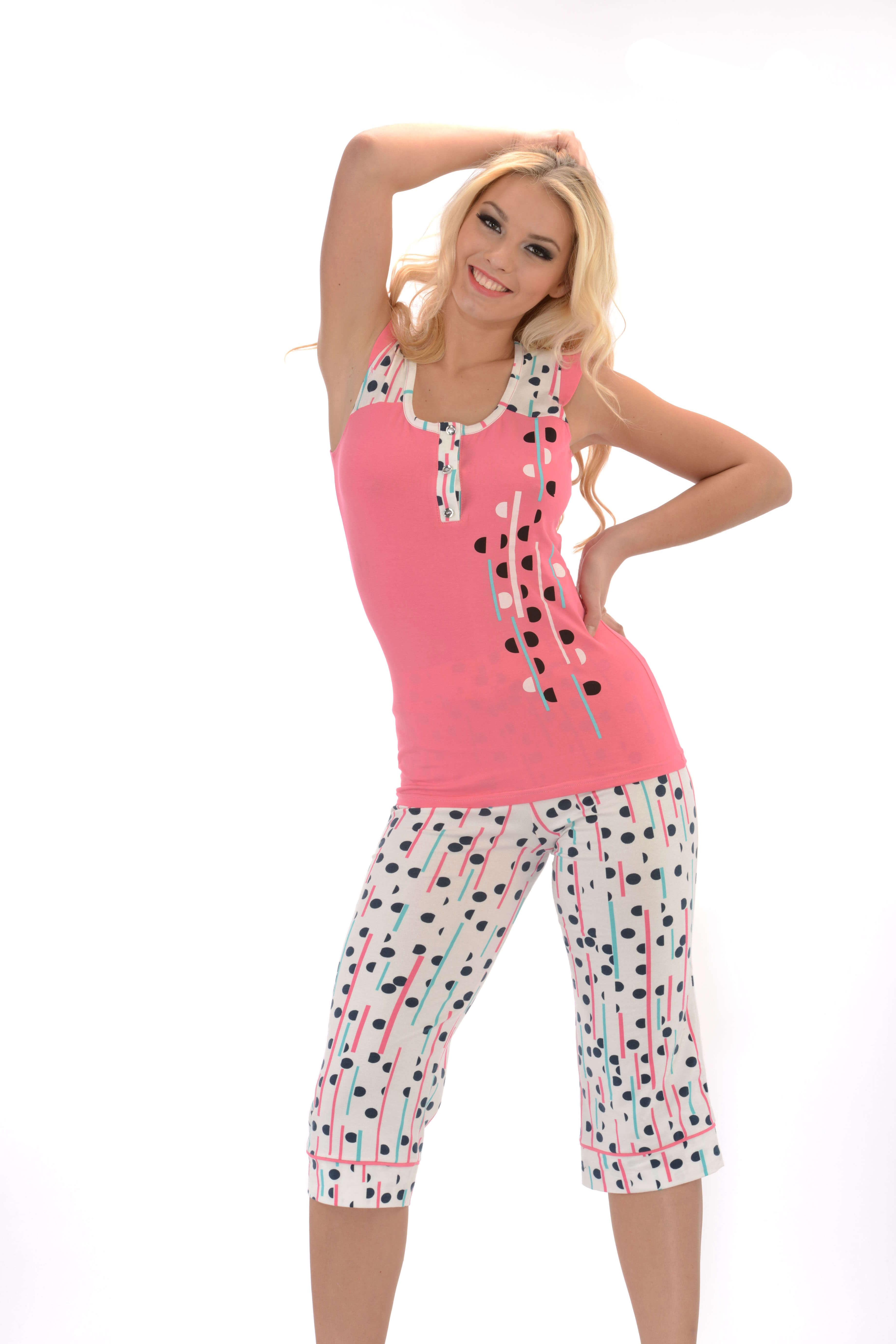 Пижама капри Metin 9110
