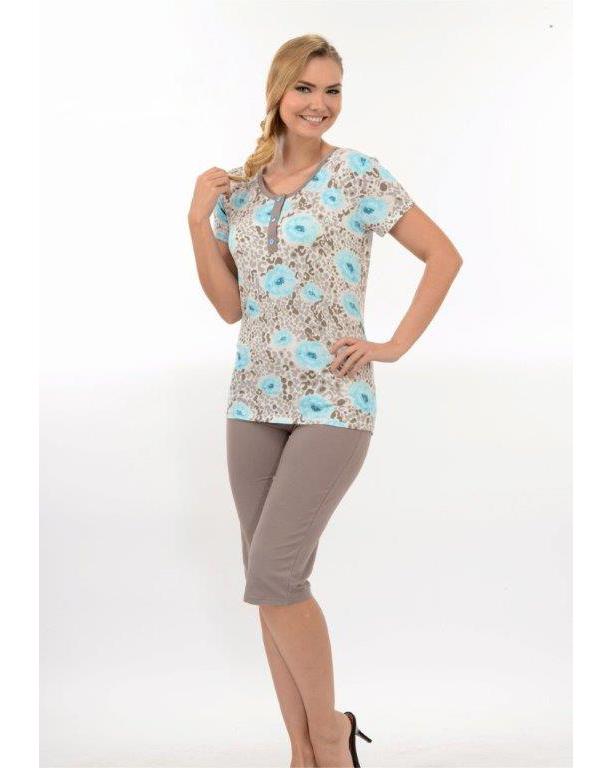 Пижама женская капри Metin 9886