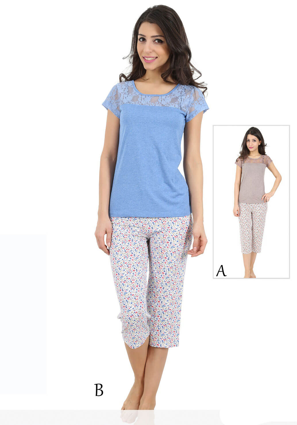 Пижама женская Капри 4090734731