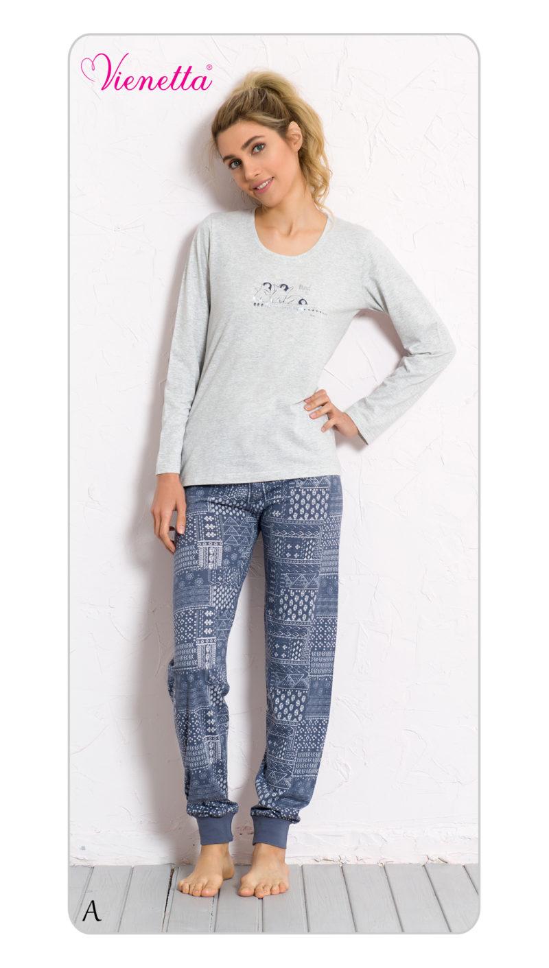Пижама женская манжет 6040712092