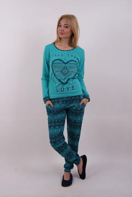 Пижама женская брюки 86604