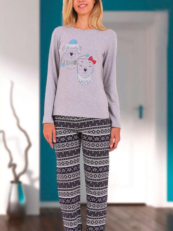 Пижама женская SAB.D45803 GRI
