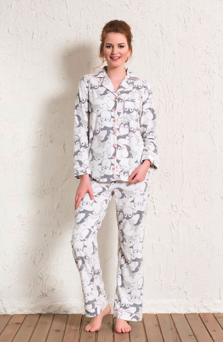 Пижама женская флис 1601273313