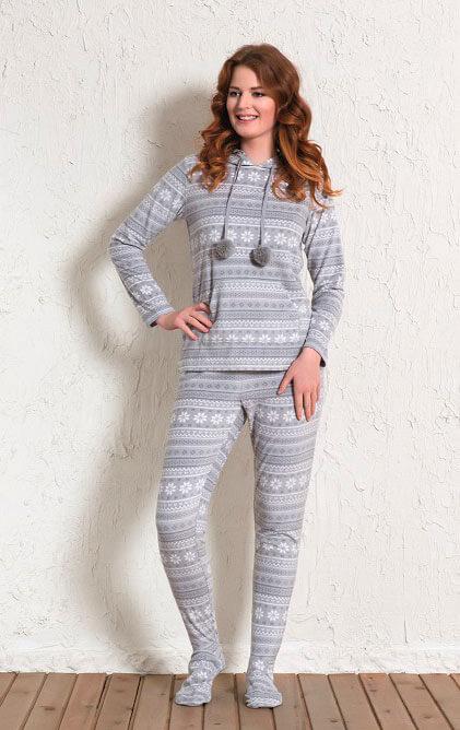 Пижама женская флис 1601413327