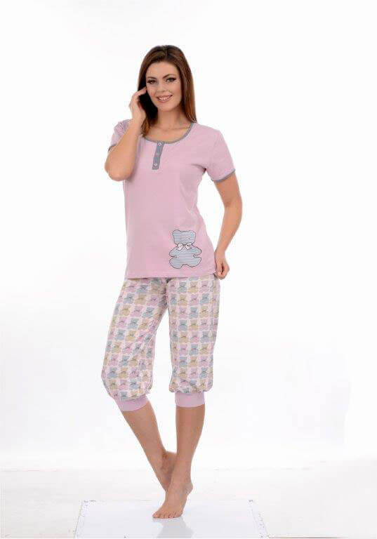 Пижама женская капри Metin 9042