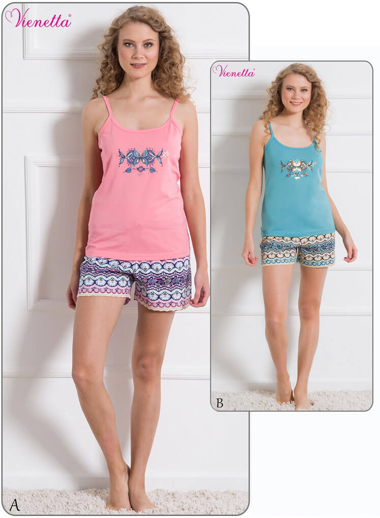 Пижама женская шорты 6101986205