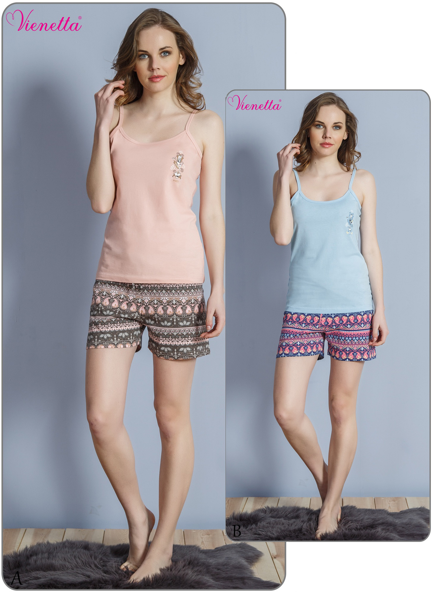 Пижама женская шорты 6101300084