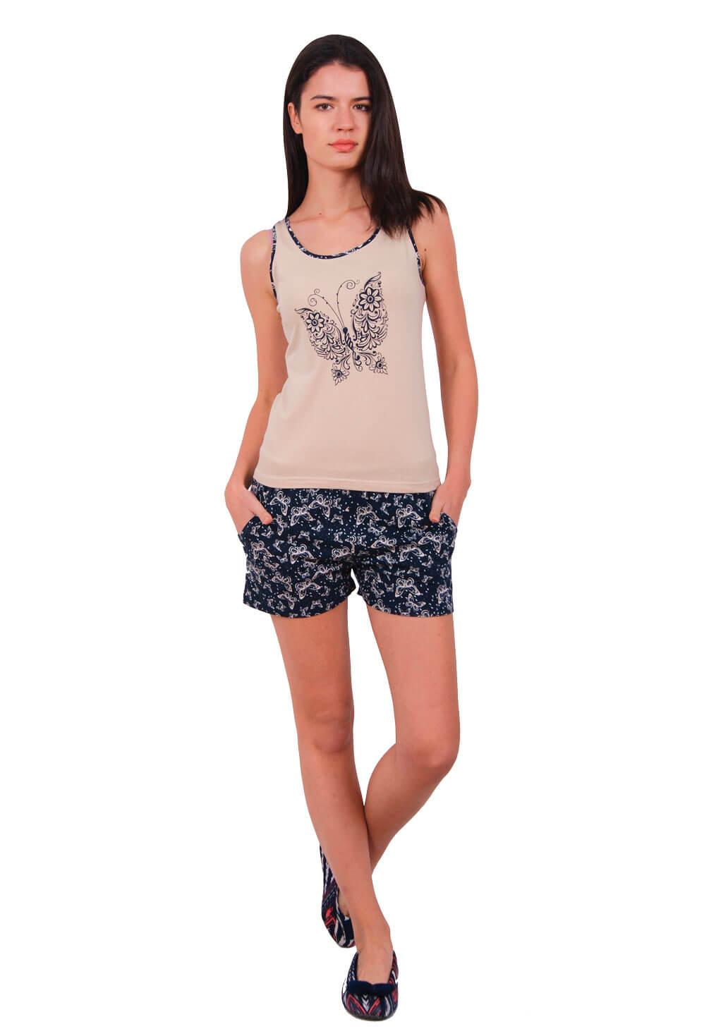 Пижама женская шорты Nicoletta 80632