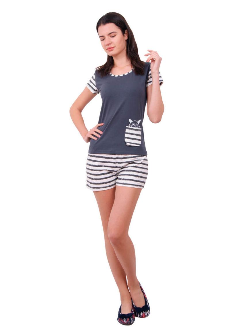 Пижама женская шорты Nicoletta 80634
