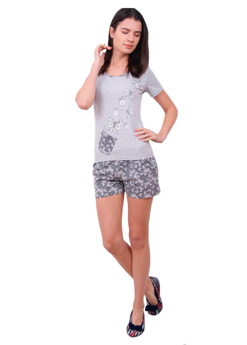 Пижама женская шорты Nicoletta 80637