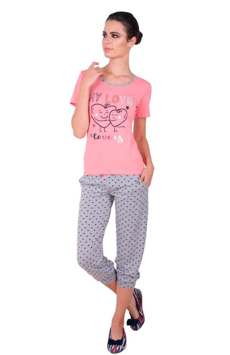Пижама женская капри Nicoletta 82342