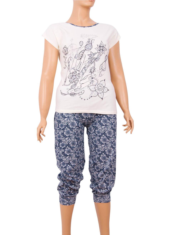 Пижама женская капри Nicoletta 84959