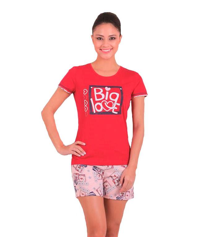 Пижама женская шорты SAB. H 62823 KIR