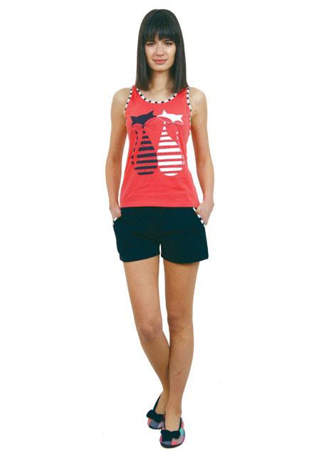 Пижама женская шорты Nicoletta 80672