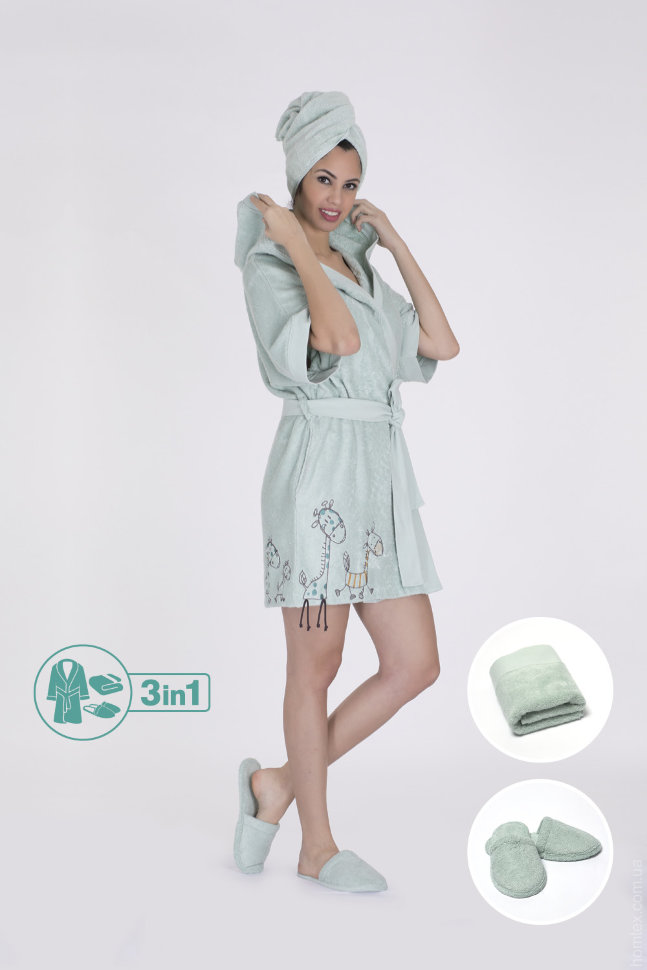 Набор женский Hays халат+полотенце 16580-В121