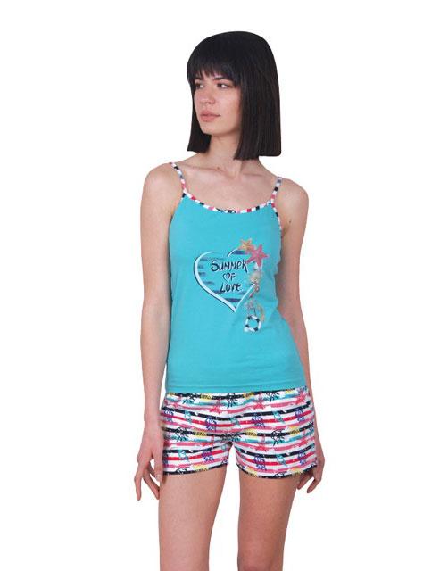 Пижама женская шорты Nicoletta 80715