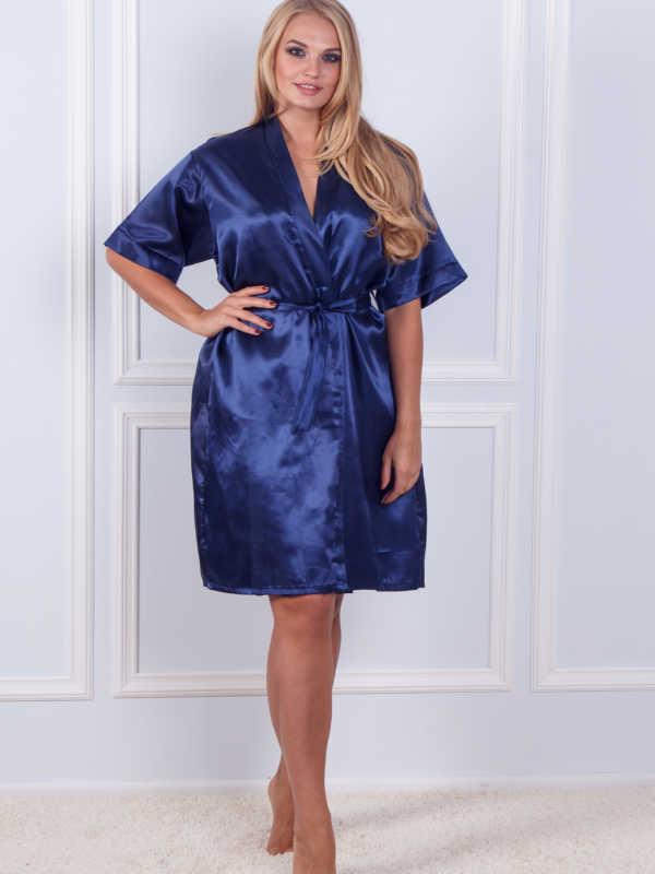 Халат ночная шёлк набор Sofi Soft 10876 n.blue