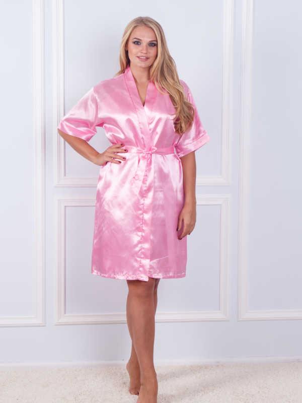 Халат ночная шёлк набор Sofi Soft 10876 rose
