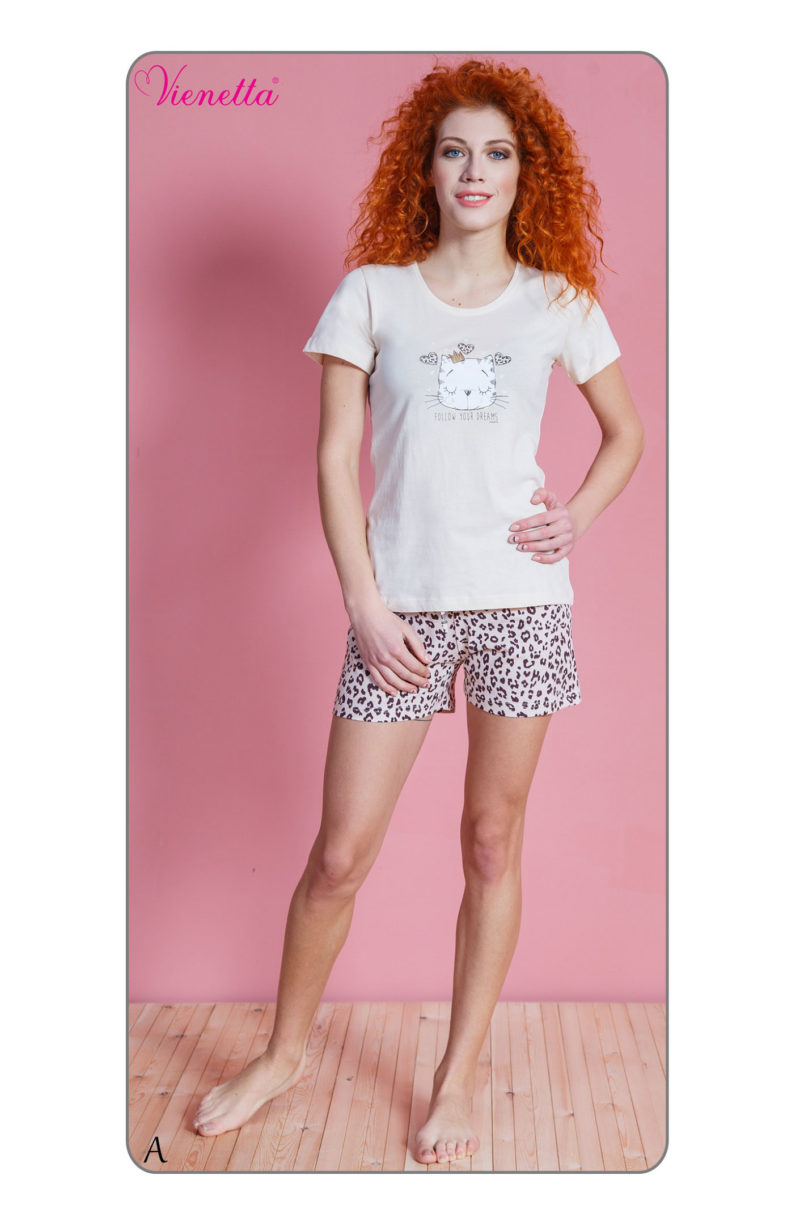 Пижама женская шорты 6102200277