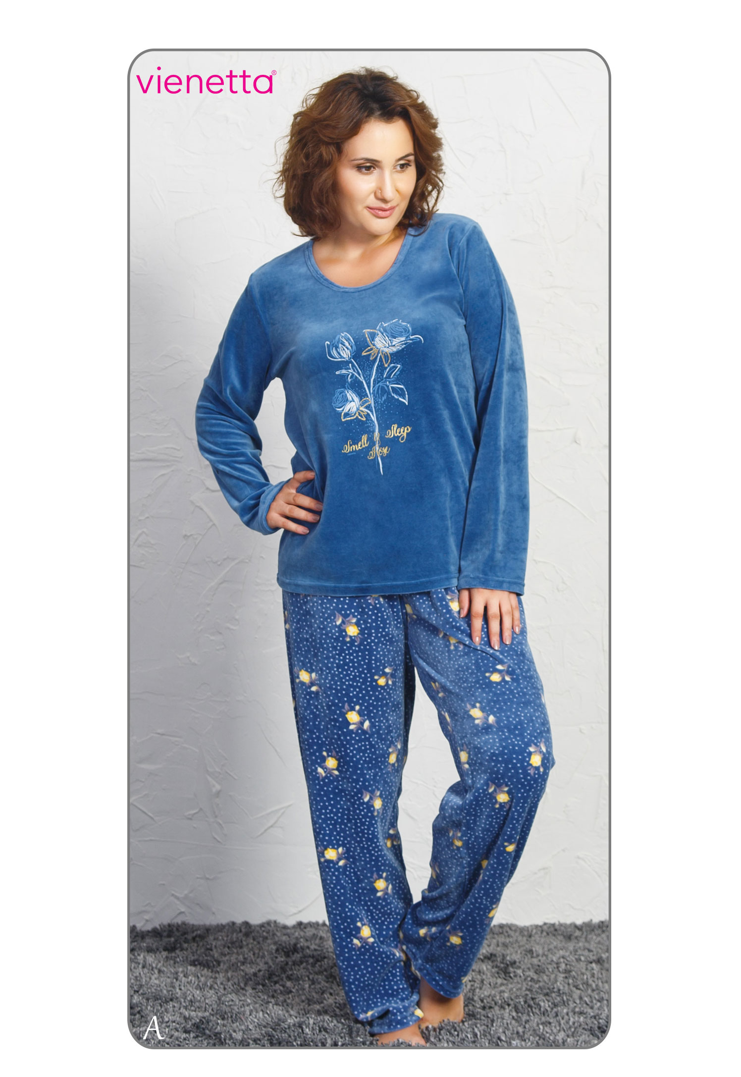 Пижама женская Велюр 7042101880