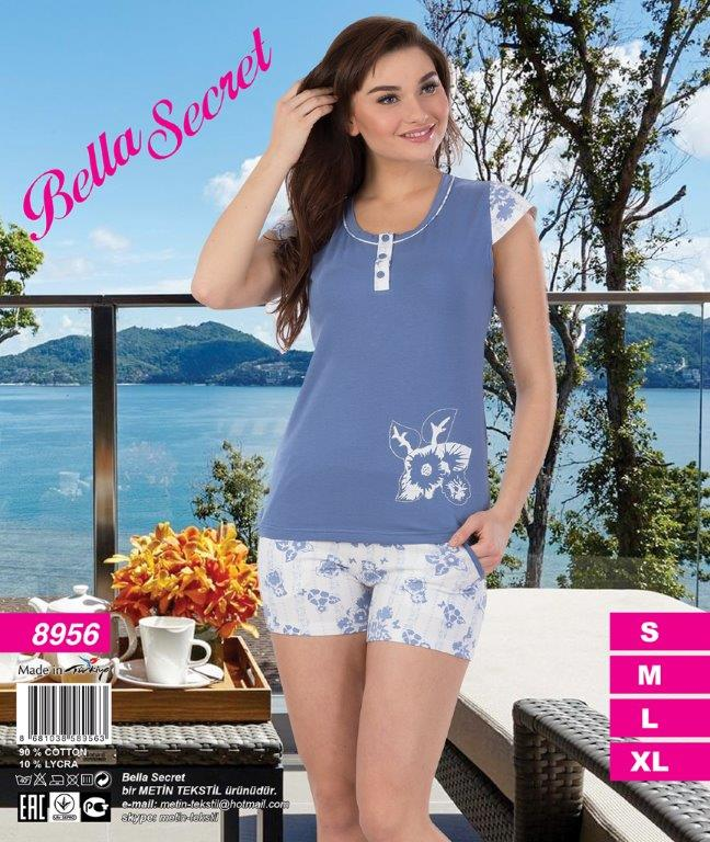 Пижама женская шорты Metin 8956