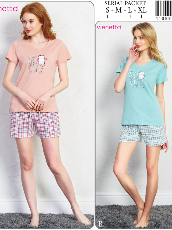 Пижама женская Шорты 7102223557