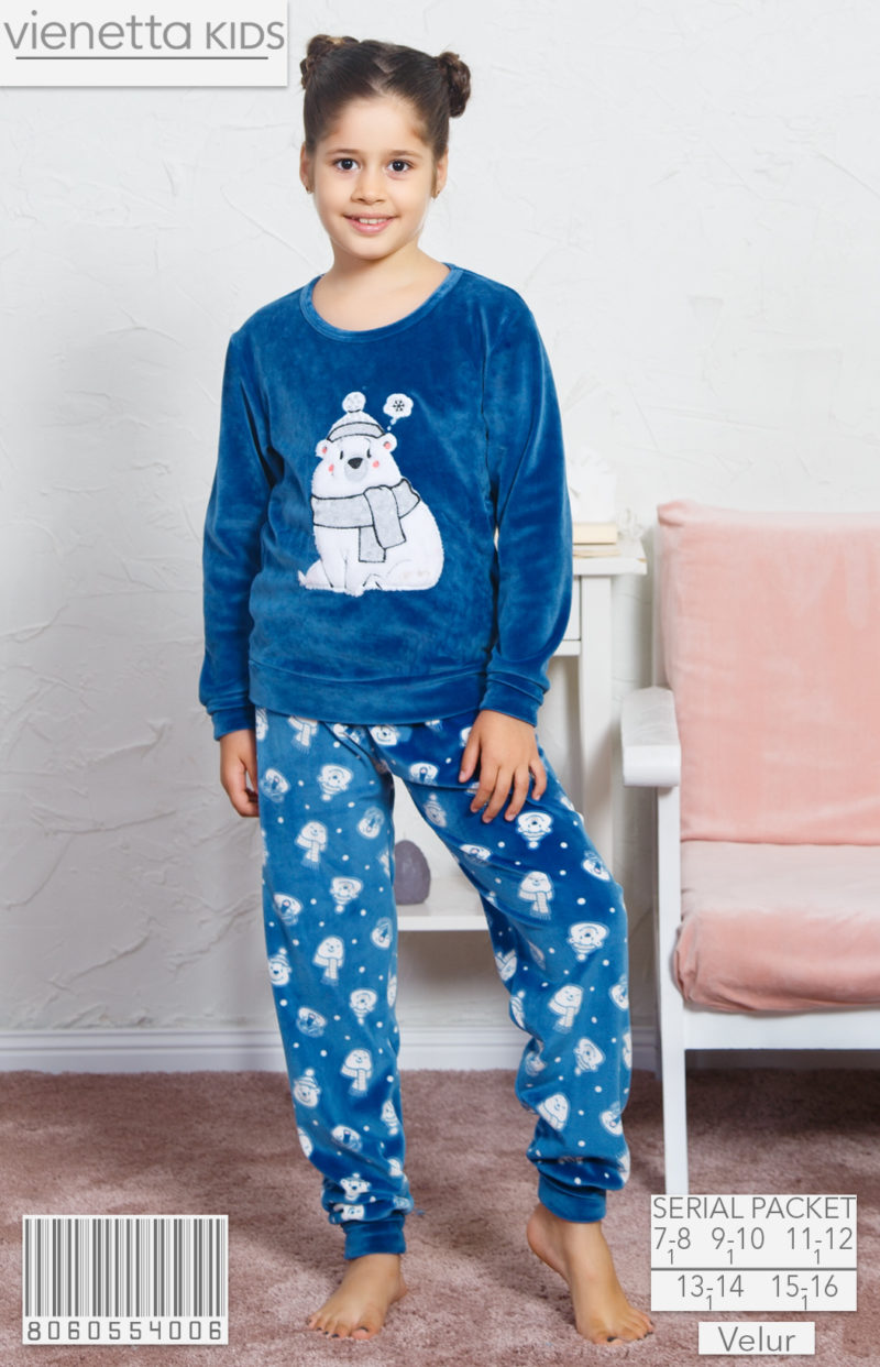 Пижама детская велюр 8060554006