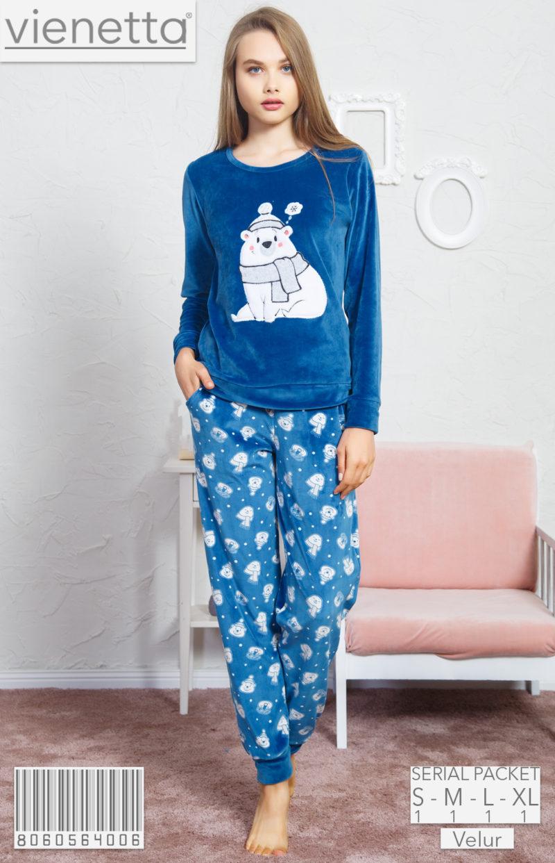 Пижама женская Велюр 8060564006