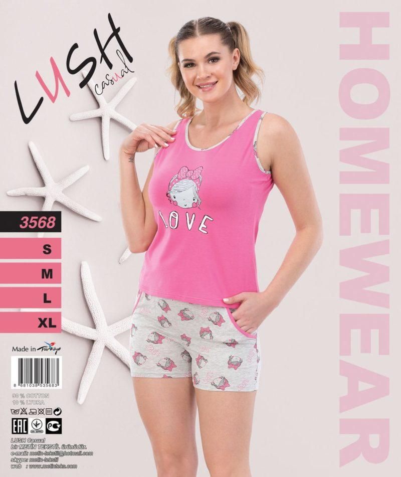 Пижама женская Шорты LUSH 3568