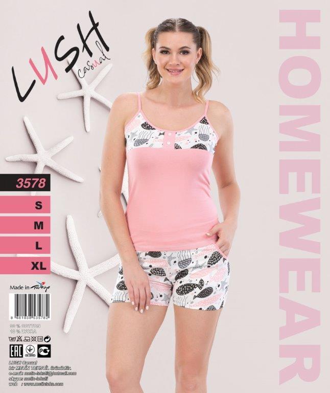 Пижама женская Шорты LUSH 3578