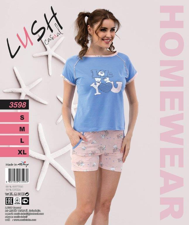 Пижама женская Шорты LUSH 3598