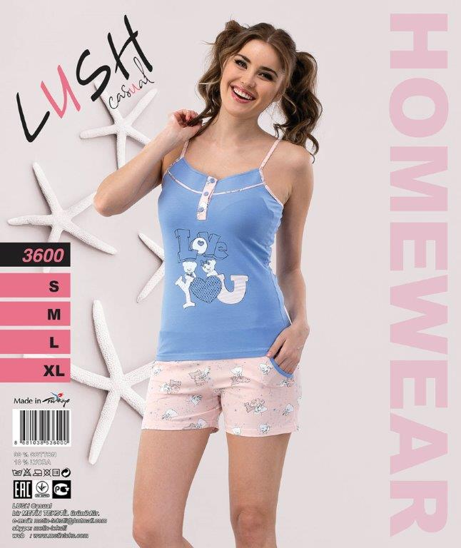Пижама женская Шорты LUSH 3600