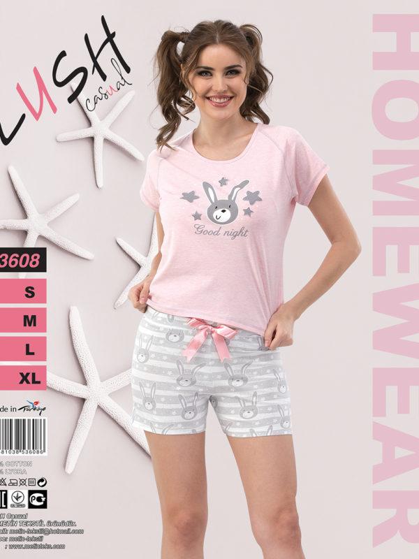 Пижама женская Шорты LUSH 3608